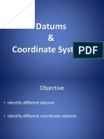 Datums and Coordinates