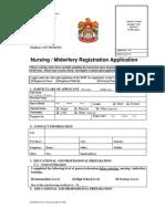 Nursing Midwies Application Form-2008
