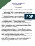 Charles Dickens - David Cooperfield (Rezumat in Limba Romana)