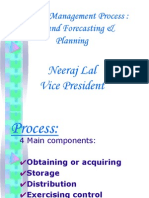 Material Management - Demand Forecasting &  Planning