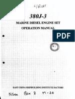380-J-3 Marine Diesel Engine Set Operation Manual