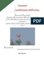 Elisa Buratti - Il libro dei Fonemi;Fonemi per ogni settimana dell'anno