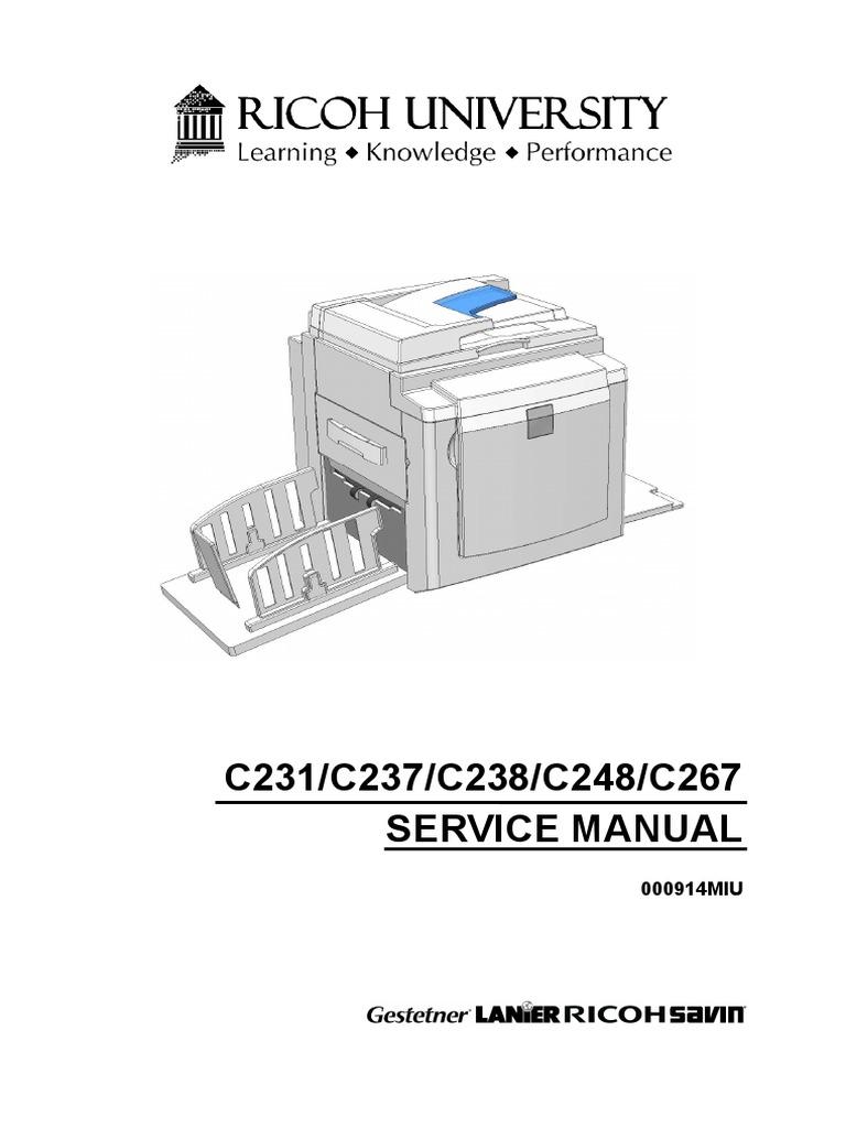 manual service ricoh c238 5430 duplicator image scanner power supply rh scribd com