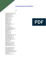 Daftar Tombol Pintas Pada Adobe Photoshop
