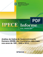 Ipece Informe 64 12 Setembro 2013