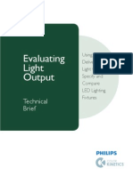 Evaluating Light Output