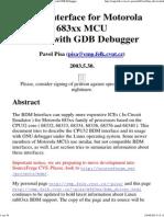 BDM Interface for Motorola 683xx MCU__ Usage With GDB Debugger