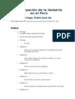 Arriaga, La extirpación de la idolatría en el Perú