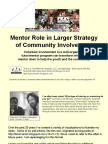 Mentor Role in Larger Youth Development Strategy
