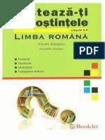 Mihaela Georgescu, N Ionescu - Testeaza-Ti Cunostiintele de Lb Romana (Clasele 5-8)