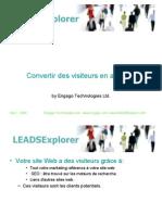Leads Explorer Convertir Visiteurs en Affaires