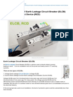 Electrical-Engineering-portal.com-Working Principle of Earth Leakage Circuit Breaker ELCB and Residual Current Device RCD