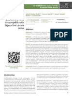 Treatment of combat-related traumatic chronic osteomyelitis with tigecycline