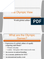 Olympic Lecture on Globalisation