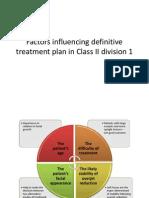 Factors Influencing Definitive Treatment Plan in Class II