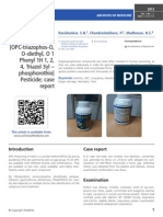 A case of poisoning with HATTRICK [1] [OPC-triazophos-O, O-diethyl, O 1 Phenyl 1H 1, 2, 4, Triazol 3yl – phosphorothio] Pesticide; case report