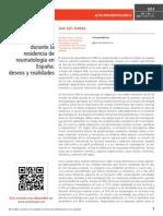 Formación en investigación durante la residencia de reumatología en España