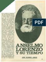 Anselmo Lorenzo y su tiempo - ÁLVAREZ JUNCO,  J.