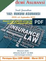 Soal Jawaban CGI - LSPP AAMAI 102 - Hukum Asuransi - Edisi Maret 2014 - Sampel