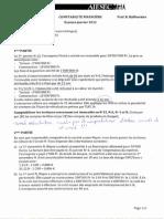 AIESEC Compta financière - exam janvier 2012
