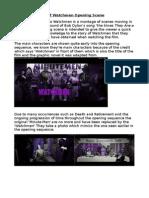 Media- Watchmen Opening Scene Textual Analysis