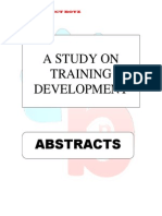Abstracts - Training and Development