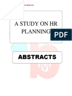 Abstracts of Hr Planning
