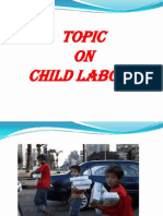 Topic on child labour