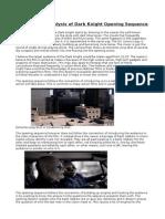 Media- Dark Knight Opening Textual Analysis