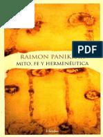 Mito ,Fe y Hermeneutica - Panikar
