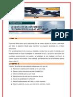 GENERACION DE CONTENIDOS  Y PREPARACIÓN DE AULAS