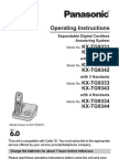 KXTG9331 Panasonic Cordless phone manual