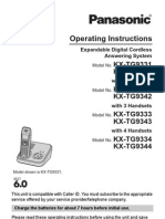 KXTG9331 Panasonic Cordless phone manual
