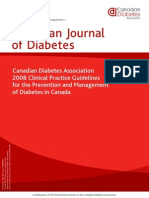 CANADIAN DIABETES CLINICAL GUIDELINES 2008