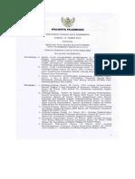 Peraturan Daerah Kota Palembang Nomor 15 Tahun 2012 tentang Rencana Tata Ruang WIlayah Kota Palembang Tahun 2012-2032