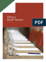 2012 05 Filling a BoardVacancy