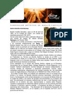 Curriculum Artístico de Basilio A. Castillo G.   BACG