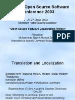FOSS localization in Malaysia