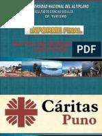 CARITAS PUNO PRACTICAS VALENTIN CANALES Y JAQUELINE SANIZO