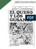 Carlo Guinzburg El Queso y Los Gusanos
