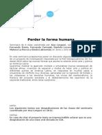 LONGONI, Ana; DAVIS, Fernando Perder La Forma Humana Completo Corregido
