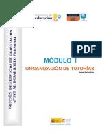 Mod 1 Organización de tutorías
