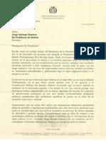 Carta de #Evo a #Tuto Quiroga en respuesta a la del 15Dic2013