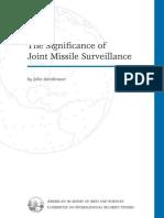 JDEC - Steinbruner - Significance of Joint Missile Surveillance - 2001