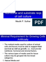 Lecture5 - Nutritional and Substrate Reqs of Cell Culture