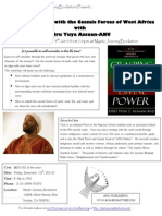 Mystic Spirit - Self Actualization With the Cosmic Forces of West Africa - Flyer