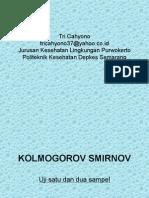 Statsitik Kolmogorov Smirnov Uji Kesesuaian Satu & Dua Sampel
