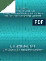 Statistik Uji Normalitas Data