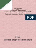 Statistik Z Test Uji Beda Proporsi Satu Sampel