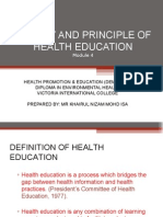 Modul 4 - Theory and Pronciple of Health Education